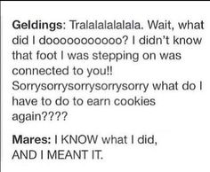 The difference between geldings and mares, very accurate