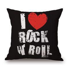 Rock Roll Casos Capas de Almofada Amor Coração Travesseiro 45X45 cm Picasso Pintura Decoração do Quarto Sofá de Linho de Algodão Fino Loja Online   aliexpress móvel