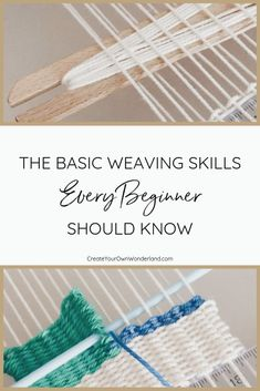 The Basic Weaving Skills Every Beginner Should Know — Jass' Place The Basic Weaving Skills Every Beginner Should Know — Create Your Own Wonderland Weaving Textiles, Weaving Patterns, Tapestry Weaving, Fabric Weaving, Card Weaving, Basket Weaving, Stitch Patterns, Knitting Patterns, Yarn Crafts