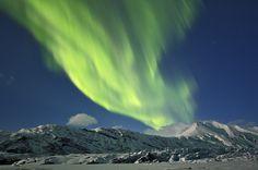 Northern Lights over Heinabergsjökull glacier in Iceland. Photo by Daniel Bergmann