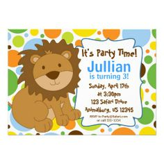 Lion King Birthday Party Invitations | Little King Lion Birthday Party Invitation