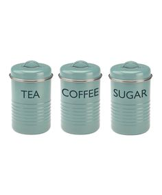 Blue Canister Set by Typhoon #zulily #zulilyfinds