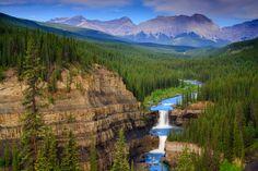 Crescent Falls & Bighorn river in Alberta, Bighorn Backcountry