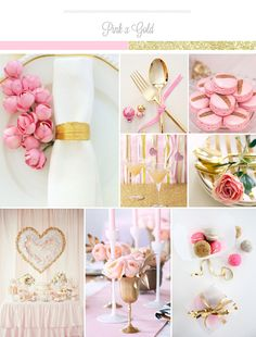 Pink x Gold Wedding Palette