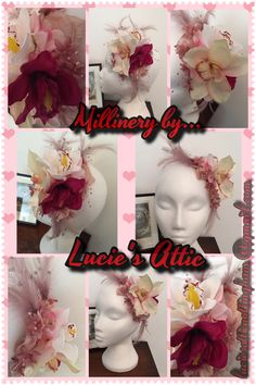 Hair flower/fascinator custom made by Lucie's Attic. For bespoke millinery and vintage fashions email luciesatticnottingham@gmail.com