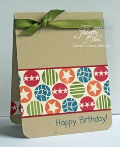 Birthday Stars by blessingsX3 - Cards and Paper Crafts at Splitcoaststampers