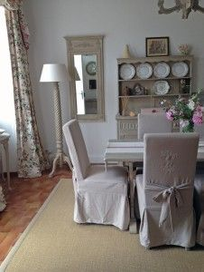 New chairs and an old table create a lovely dining area Double Window, French Country House, Dining Area, Chairs, The Originals, Create, Room, Furniture, Home Decor