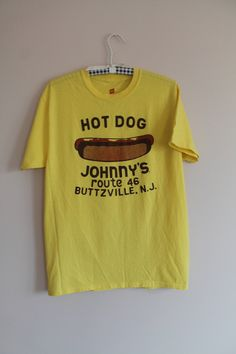 bc51a9ce4 90's Hot Dog Johnny's Buttzville New Jersey Route Adult Unisex 50/50 Size M  T shirt