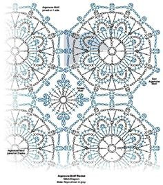 New Crochet Afghan Flower Hexagon Pattern 53 Ideas Mandala Au Crochet, Débardeurs Au Crochet, Plaid Crochet, Crochet Doily Patterns, Crochet Diagram, Crochet Baby Hats, Crochet Chart, Crochet Squares, Crochet Flowers