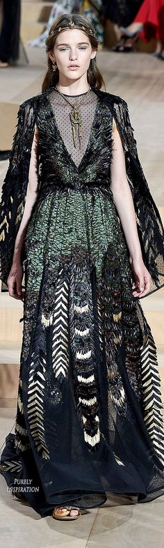 Valentino Fall 2015 Haute Couture iridescent green black gown // Pinned by Dauphine Magazine x Castlefield - Curated by Castlefield Bridal Company & Branding Atelier and delivering the ultimate experience for the haute couture connoisseur! Visit www.dauphinemagazine.com, @dauphinemagazine on Instagram, and @dauphinemag on Pinterest • Visit Castlefield: www.castlefield.co and @ castlefieldco on Instagram / Luxury, fashion, weddings, bridal style, décor, travel, art, design, jewelry…