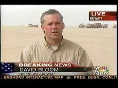The Iraq Invasion. David Bloom reports on Day Two from Kuwait 20 Mar 2003. He died 17 days later, still on assignment traveling with the U.S. Third Infantry Division in Iraq at the age of 39 after a deep vein thrombosis became a pulmonary embolism.