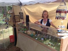 #lenoircityartsandcrafts #booth another photo of our first booth at a #crafts fair.  This is an old retail counter my husband re-vamped to display his wood & acrylic pens, razors, stylus etc.