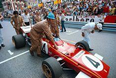 (Jacky Ickx's) Ferrari 312B2 - Ferrari 001 2,992 cc (182.6 cu in), Flat-12, naturally aspirated, mid-engine, longitudinally mounted1971 Monaco Grand Prix, Circuit de Monaco