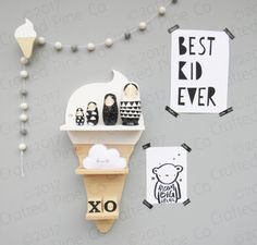 ice cream cone shelf wooden ice cream shelf kids