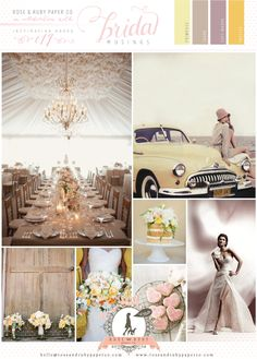 I love anything Vintage and I adore this Vintage 50s Yellow Mauve Wedding Inspiration #vintage #vintage wedding #1950s