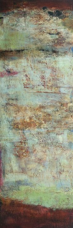 Claudia Marseille - Face to Face , 2011 Formatting Painting   60 x 20 in Encaustic on panel