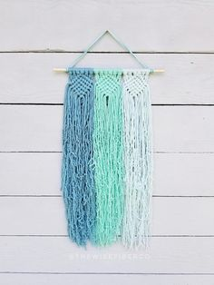 Custom Macrame Wall Hanging - you choose your favorite 3 colors! This woven like wall hanging is reminiscent of friendship bracelets of our youth, but all grown up! Perfect wall decor for the modern minimalist, boho home, or coastal / beach house.  >>>DETAILS<<< ▪10 wide macrame