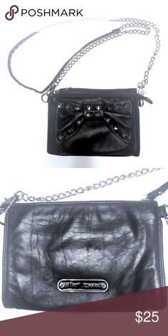 Betsey Johnson Leather Mini Shoulder Bag Gently used, with one unnoticeable missing stud at the shoulder. Betsey Johnson Bags Mini Bags