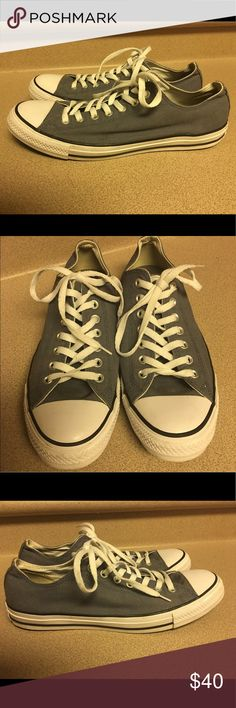 Converse All Star Men's Shoes Size 10 Slate Blue Pre-Owned Converse All Star Men's Shoes Size 10 111113F Slate Blue Converse Shoes Sneakers