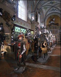 Florence. Italy. Museo Stibbert, Sala della Cavalcata. Archivio fotografico Stibbert