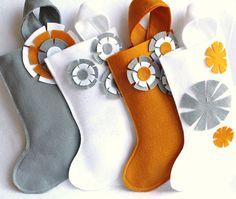 Felt Floral Stockings