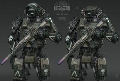 Futuristic Armour, Futuristic Art, Sci Fi Armor, Sci Fi Weapons, Robot Concept Art, Armor Concept, Military Robot, Science Fiction, Cyberpunk Rpg