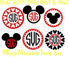Disney Svg Mickey Mouse Monogram Svg Clipart - Disney Cut files / Mouse Die Cuts - Svg Dxf Eps Pdf Png Disney files for Silhouette, Cricut