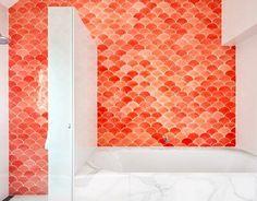 baño azulejo de escamas