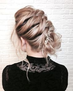 Beautiful braids with updo wedding hairstyle inspiration #weddinghair #hairstyle #hairideas #bridalhair #frenchchignon #messyupdo #braids #braidupdo #braided #updohairstyles