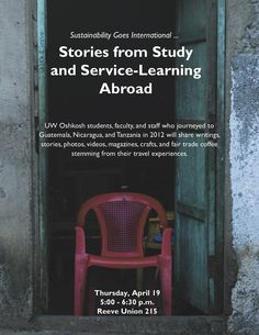 Study abroad presentation at UW Oshkosh. Be there.