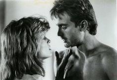 Sarah Connor and Kyle Reese (Michael Biehn and Linda Hamilton)
