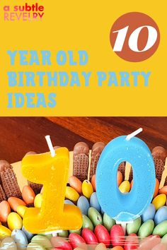 The first double-digit birthday is a big deal. A Subtle Revelry has some wonderful party ideas, for boys and girls. Celebrate this milestone. Choose from our many themes. You won't go wrong giving your son or daughter a memorable birthday party. This is the beginning of them entering into some independence so allow yourself to remain in the background and let the party get its own momentum and take on a life of its own. Read more… #10birthday #birthdaypartyidea #10thbirthdayparty