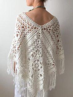 Crochet Poncho Free Pattern, Kalisha Poncho for Summer - Crochet Dreamz Crochet Poncho Patterns, Crochet Shawl, Crochet Scarves, Crochet Cape, Crochet Vests, Crochet Edgings, Flower Crochet, Shawl Patterns, Crochet Motif
