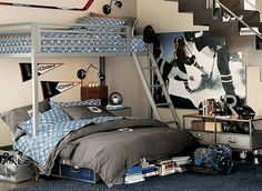 Girls hockey bedroom, this is SOOOO cool!!!!!!!!!!!!!!!!!!!!!