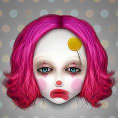The Misfits: Lulu by xanthic on DeviantArt Creepy Art, Weird Art, Dark Fantasy Art, Dark Art, Childhood Fears, Dark Triad, Eyes Artwork, Something Wicked, Evil Clowns