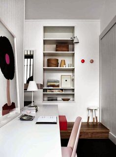 Love that stool and workspace!