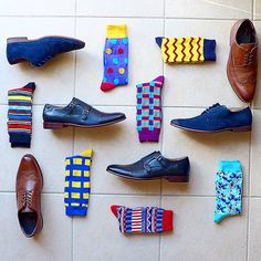 One of my favs! Men's shoes and socks! Hmmm what set do I want???