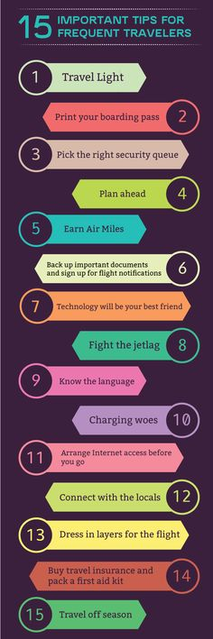 15 IMPORTANT TIPS FOR FREQUENT TRAVELERS Traveling around the world can be extremely exciting but it is also not as easy as booking a flight and taking off! It is an art rather than a science that comes with experience and requires meticulous planning and organizing to a make a trip fulfilling. A dingy hotel room, an overpriced restaurant or a middle seat on the flight is enough to ruin your vacation. Here are 15 tips to make your trip more memorable.