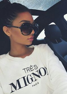 pinterest: @ nandeezy † More Zone Shades, Style, Fab Sunglasses, Big Sunglasses, Girls Fashion Luxury, Hair Nails Makeup Beautiful, Start Posts, Accessories, Fashion Styl Big sunglasses