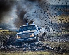 Diesel truck in mud bog race blowing smoke and flinging mud Muddy Trucks, Gm Trucks, Diesel Trucks, Lifted Trucks, Chevy Trucks, Pickup Trucks, Truck Flatbeds, Lifted Chevy, Trucks And Girls