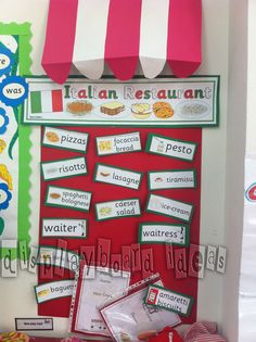 italian menu for pretend cafe!