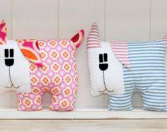 Dog Sewing Pattern PDF Istant Download Plush Stuffed Toy Tutorial. Fabric dog pattern.
