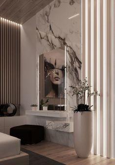 36 room design ideas using marble 20 Luxury Homes Interior, Modern Interior, Home Interior Design, Interior Decorating, Living Room Designs, Living Room Decor, Bedroom Decor, Bedroom Sofa, Master Room
