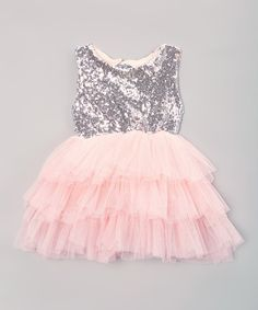 Love this Just Couture Pink & Silver A-Line Dress - Infant, Toddler & Girls by Just Couture on #zulily! #zulilyfinds