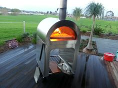 kitchen stainless steel wood burning oven | Milano Stainless Steel (304) Pizza Oven - All new design!