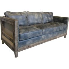 Aurelle Home Monarchy Antique Rustic Distressed Leather Sofa (Light Brown Sofa) (Foam)