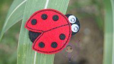 felt crafts   Hair clip ladybug adalah antara design yg akan diajar dlm e-book ...