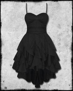 Criminal Damage Madonna Black Goth Steampunk Vtg Victorian Layered Prom Dress