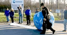 """12 Arrested in Earth Day-Themed Protest Against Gas Storage in Seneca Lake's Salt Caverns   EcoWatch   """"The Earth Day-themed civil disobedience action was part of an ongoing campaign against proposed gas storage in Seneca Lake's abandoned salt caverns."""" Click to read and share the full article with video (0:55)."""