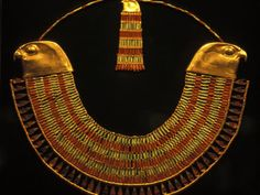 Gold and Fiance Beaded Necklace, Cairo